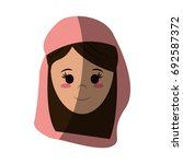 woman wearing veil icon image  | Shutterstock .eps vector #692587372