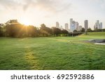 downtown houston from police... | Shutterstock . vector #692592886