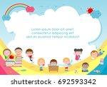 back to school  kids school ... | Shutterstock .eps vector #692593342