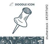doodle pushpin | Shutterstock .eps vector #692597692