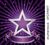 vector silver purple star on...   Shutterstock .eps vector #69259897