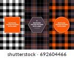 halloween black  white  orange... | Shutterstock .eps vector #692604466