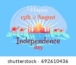 happy 15th august independence... | Shutterstock .eps vector #692610436