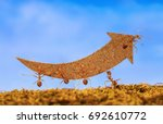 ants carry rising arrow for... | Shutterstock . vector #692610772