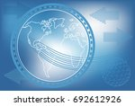 futuristic blue vector... | Shutterstock .eps vector #692612926