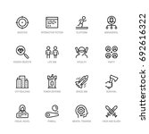 video game genres vector icons... | Shutterstock .eps vector #692616322