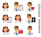 medicine doctors and nurses... | Shutterstock .eps vector #692623222