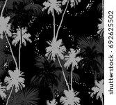 seamless vector monochrome... | Shutterstock .eps vector #692625502