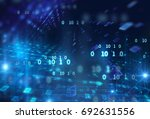 digital code number abstract... | Shutterstock . vector #692631556