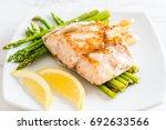 Grilled Snapper Fish Steak Wit...