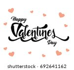 happy valentines day | Shutterstock .eps vector #692641162