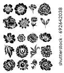 flower set | Shutterstock . vector #692642038