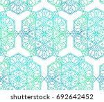 seamless pattern consisting of... | Shutterstock .eps vector #692642452