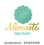 hand lettering gilding logo for ... | Shutterstock .eps vector #692642458