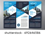 business brochure. flyer design.... | Shutterstock .eps vector #692646586