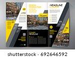 business brochure. flyer design.... | Shutterstock .eps vector #692646592