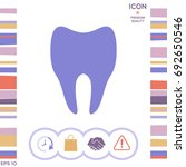 tooth symbol silhouette | Shutterstock .eps vector #692650546