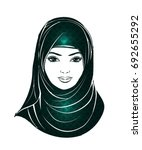 isolated portrait of islamic... | Shutterstock .eps vector #692655292