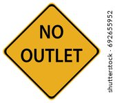 no outlet sign isolated on a... | Shutterstock .eps vector #692655952
