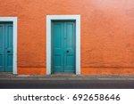 unique door | Shutterstock . vector #692658646