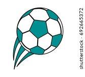soccer ball icon image | Shutterstock .eps vector #692665372