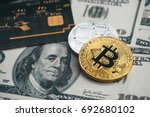 golden bitcoin with credit card ... | Shutterstock . vector #692680102