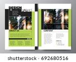 minimal modern poster brochure... | Shutterstock .eps vector #692680516