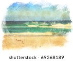 Sea Waves And Blue Sky In A...