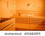 sauna landscape   relaxion for... | Shutterstock . vector #692682895