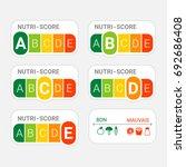 5 colour nutrition label. nutri ... | Shutterstock .eps vector #692686408