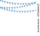 bavarian bunting festoon from... | Shutterstock . vector #692686615