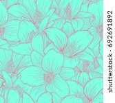 beautiful seamless pattern with ... | Shutterstock .eps vector #692691892