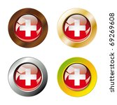 swiss shiny buttons flag with... | Shutterstock .eps vector #69269608