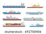 vector flat cargo  passenger... | Shutterstock .eps vector #692700406