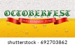 octoberfest background.... | Shutterstock .eps vector #692703862