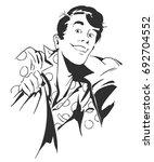 stock illustration. people in... | Shutterstock .eps vector #692704552
