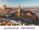 aerial view on munich old town... | Shutterstock . vector #692706232