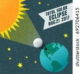 retro science illustration of... | Shutterstock .eps vector #692706415