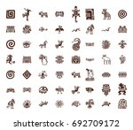 brown vector tribal symbols set ... | Shutterstock .eps vector #692709172