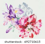 Stock photo blooming flowers series the leaves and flowers art design 692710615