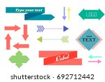 retro labels and arrows pack | Shutterstock .eps vector #692712442