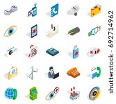 high tech icons set. isometric... | Shutterstock .eps vector #692714962