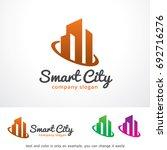 smart city logo template design ... | Shutterstock .eps vector #692716276