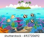 vector illustration of the sea... | Shutterstock .eps vector #692720692