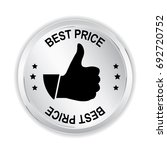 best price silver sign with... | Shutterstock .eps vector #692720752