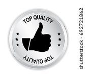 top quality silver sign with... | Shutterstock .eps vector #692721862