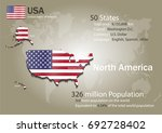 united states world map with a... | Shutterstock .eps vector #692728402