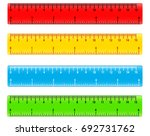 color school measuring rulers... | Shutterstock .eps vector #692731762