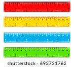 color school measuring rulers... | Shutterstock .eps vector #692731762