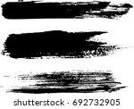 set of grunge brush strokes | Shutterstock .eps vector #692732905